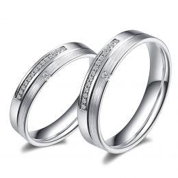 Alliances Duo Tourbillon de la vie. Or blanc, diamants