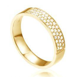 Alliance Or Jaune Narkisse - Alliance de Fiançaille en Diamant - Femme   Gemperles