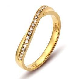 Alliance diamants ondulation précieuse - Alliance pour femme or jaune | Séléné