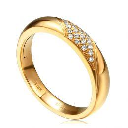 Alliance femme constellation - Or jaune - Diamants | Autour de moi pour madame