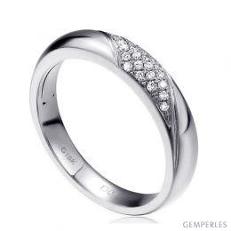 Alliance femme constellation.  Platine & Diamants | Autour de moi pour madame