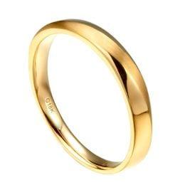 Alliance moderne Homme en Or jaune et Diamant | Emiliano