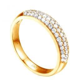 Alliance bombée Or jaune 18 carats. 49 diamants 0.375ct | Bérénice
