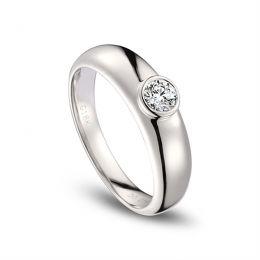Alliance Homme. Or blanc. Diamant 0.30ct | Martens