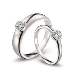 Alliances Couple. Platine. Diamants 0.60ct | Galina & Martens