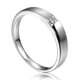 Alliance de fiançaille 2020 - Alliance pour Femme - Platine, diamant