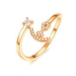 Anello Ancora per Donna -  Oro Giallo 18ct e Diamanti VS/G | Gemperles