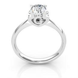 Bague prénom - Lettre G - Diamant, or blanc   Gemperles