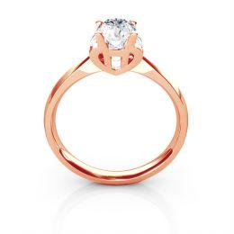 Bague prénom - Lettre H - Diamant, or rose | Gemperles