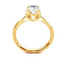 Bague prénom - Lettre H - Diamant, Or jaune | Gemperles