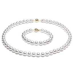 Parure or jaune perle - Perles Akoya du Japon - 7/7.5mm, AAA