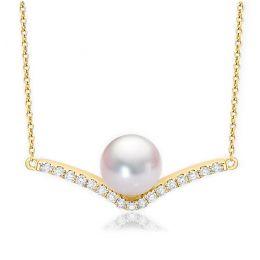 Collana Ciondolo Réflexion - Oro Giallo, Diamanti & Perle Akoya