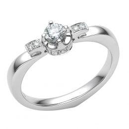 Bague de Fiancaille Solitaire Peterson -  Or Blanc & Diamants | Gemperles