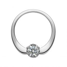 Bague Solitaire Agartha Or Blanc 750/1000 - Pendentif Diamants Sertis | Gemperles