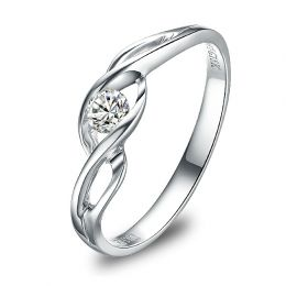 Solitaire Taylor - Diamant Maille Croisée - Or Blanc | Gemperles