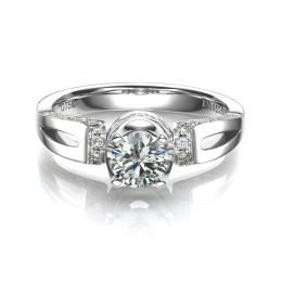 Solitaire Darling Platine Diamants 0.66ct - Bague Pendentif de Joaillerie | Gemperles