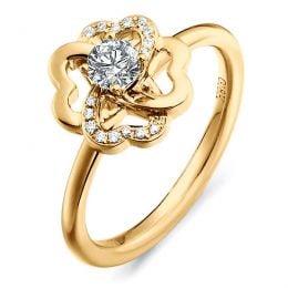 Bague Fleur de Stendhal - Bague de Mariage & Fiançaille - Or Jaune, Diamants | Gemperles
