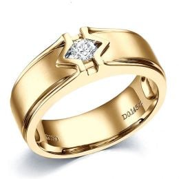 Bague Hommes. Or jaune. Diamant brillant | Louis