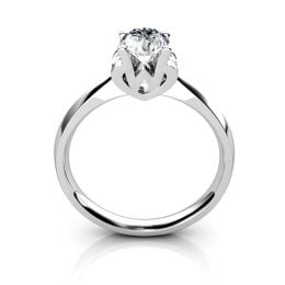 Bague prénom - Lettre W - Diamant, Or blanc   Gemperles