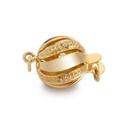 Chiusura Melograno. Palla 11mm - Diamanti - Oro giallo 18kt.
