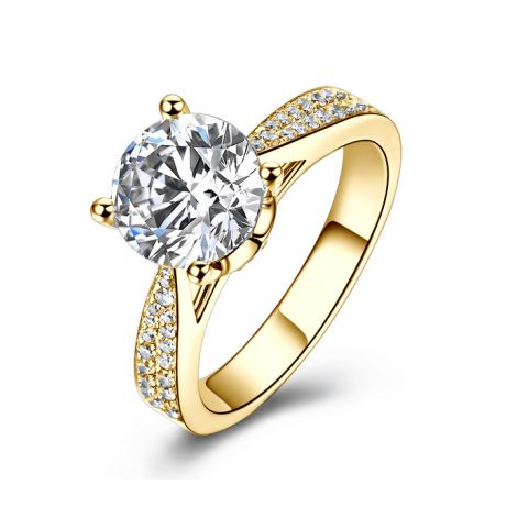 Anello di Fidanzamento Lafayette - Diamante Solitario su Oro Giallo 18k | Gemperles