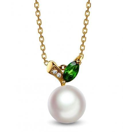Ciondolo Péridoshima Mon Amour - Oro Giallo, Diamanti e Perla Akoya