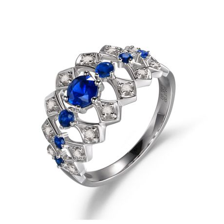 Bague Santa maria novella - Or blanc, saphir bleu & diamant