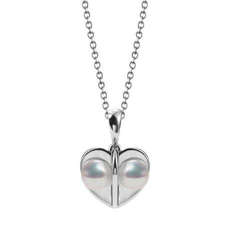 Pendentif trèfle 4 perles - 2