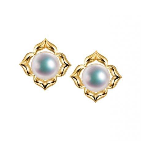 Orecchini Étoiles Filantes -  Perle Akoya Bianche Giappone & Oro Giallo