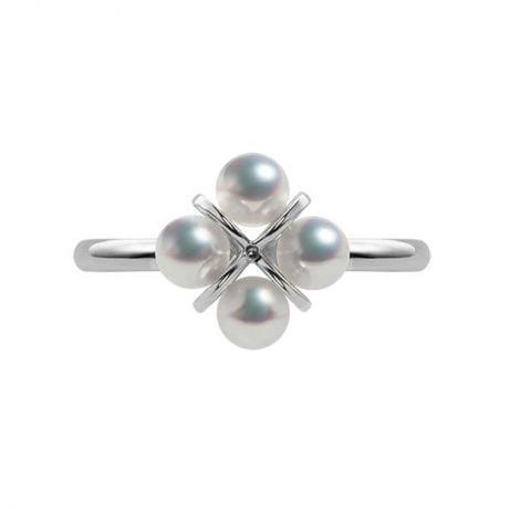 Bague trèfle 4 perles - 2