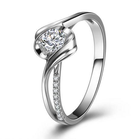 Anello di Fidanzamento Poesia di Diamanti - Platino e Diamanti | Gemperles
