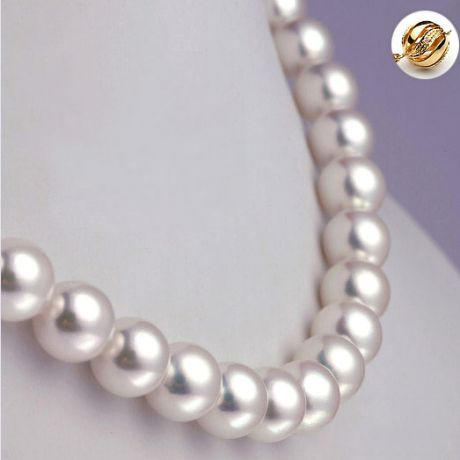 Collier perles fines Akoya - Haute joaillerie - Perle Japon - 8.5/9mm