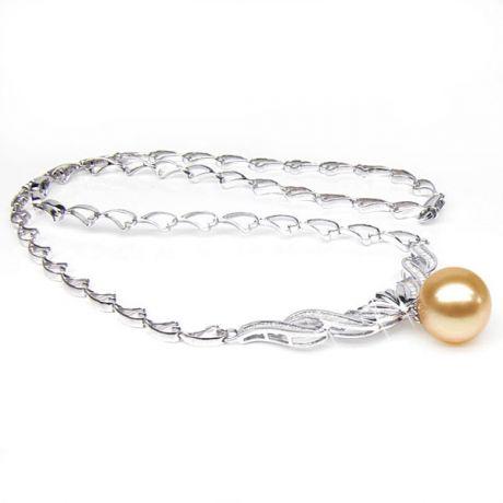 Collana Dope - Ciondolo Perla dei Mari del Sud Dorata Gold