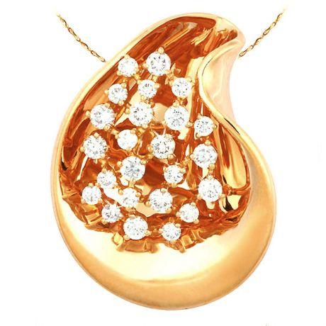 Ciondolo - Oro giallo 10.64gr - Diamanti 1.100ct