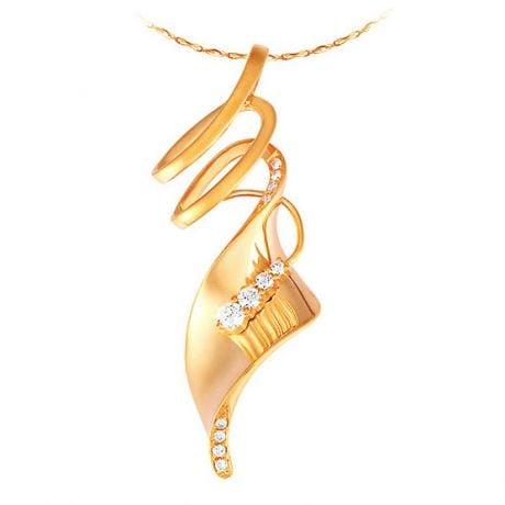 Ciondolo - Oro giallo 3.90gr - Diamanti 0.140ct