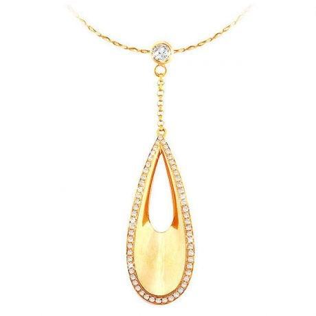 Ciondolo - Oro giallo 4.44gr - Diamanti 0.439ct