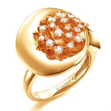 Anello Donna - Oro giallo 8.10gr - Diamanti 0.468ct