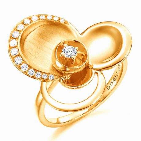Anello Donna - Oro giallo 6.98gr - Diamanti 0.216ct