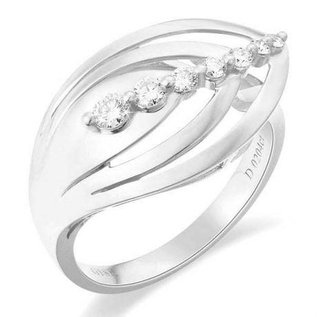 Anello Donna - Oro bianco 3.75gr - Diamanti 0.204ct