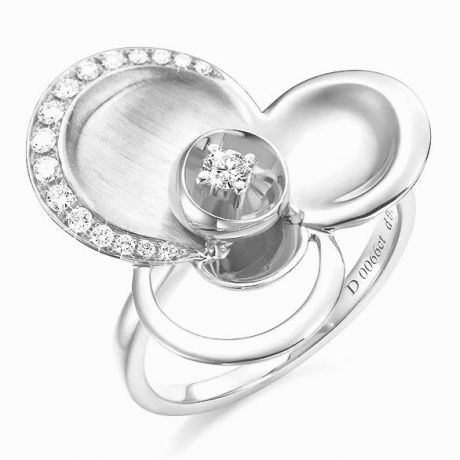 Anello Donna - Oro bianco 6.98gr - Diamanti 0.216ct
