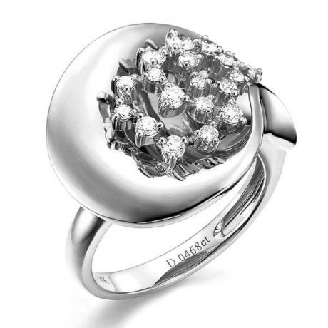 Anello Donna - Oro bianco 8.10gr - Diamanti 0.468ct