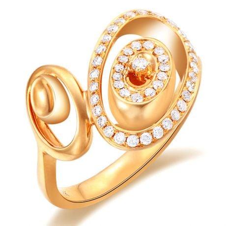 Bague Love - Bague moderne en or jaune - 45 Diamants de 0.283ct