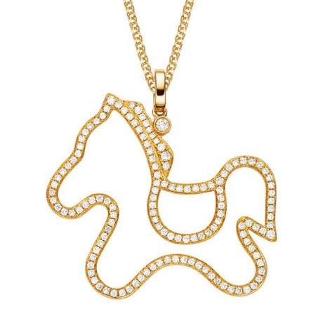 Ciondolo - Oro giallo 4.13gr - Diamanti 0.680ct