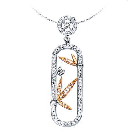 Ciondolo - Due Ori 2.74gr - Diamanti 0.500ct