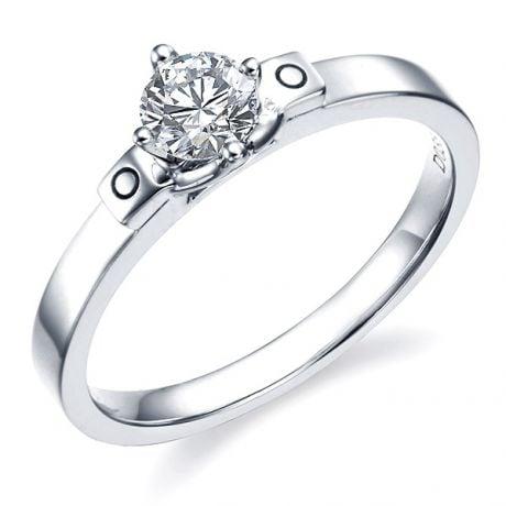 Anello di Fidanzamento Curtis - Diamante Solitario & Oro Bianco | Gemperles