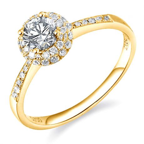 Solitaire en or jaune 18 carats - Bague fiancaille diamants 0.58ct | Gemperles