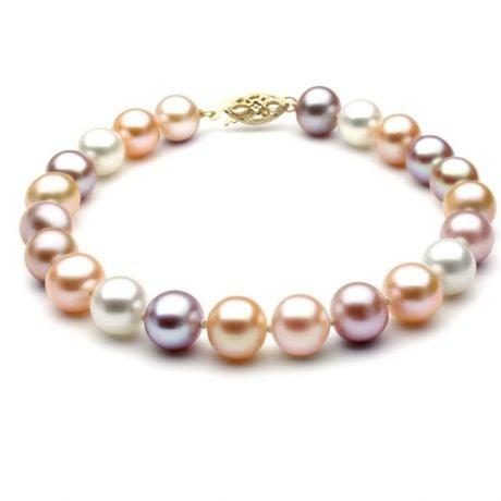 Bracelet perles de Chine - Perles multicolores d'eau douce - 6.5/7mm