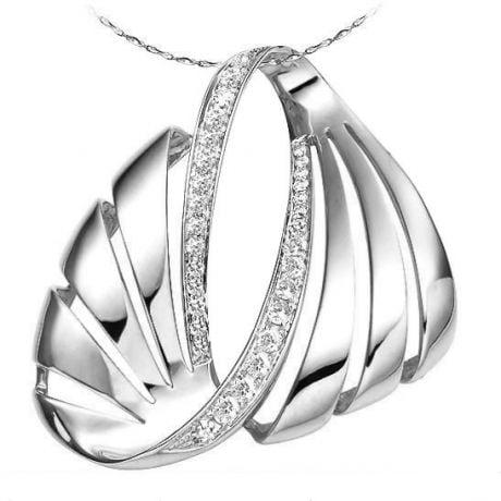 Ciondolo - Oro bianco 5.90gr - Diamanti 0.460ct