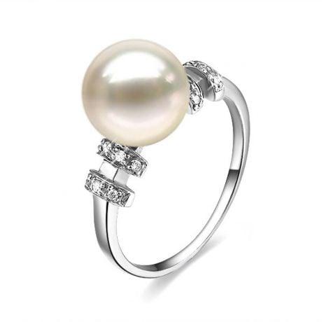 Anello Rigoletto - Oro Bianco 18kt e Perla d'Acqua Dolce