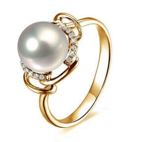 Anello Assos - Oro Giallo, Perla d'Acqua Dolce